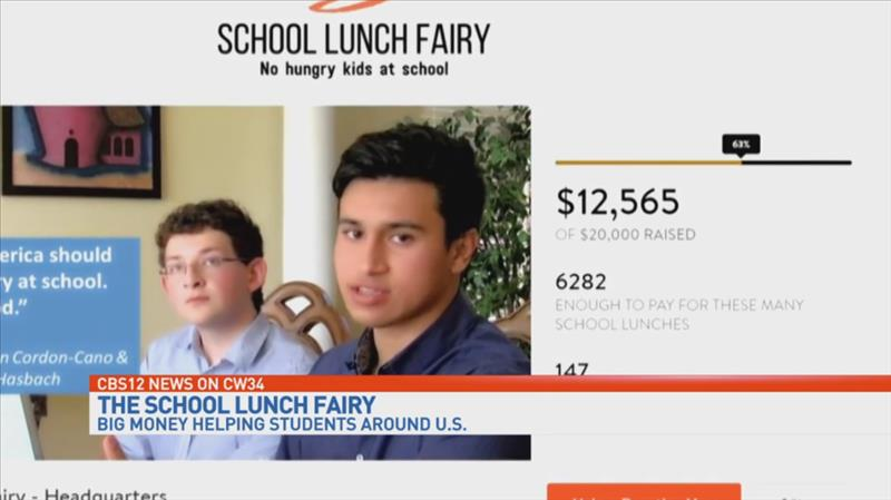 Local teens 'School Lunch Fairy' scores at least $10,000 from Duffy's Foundation