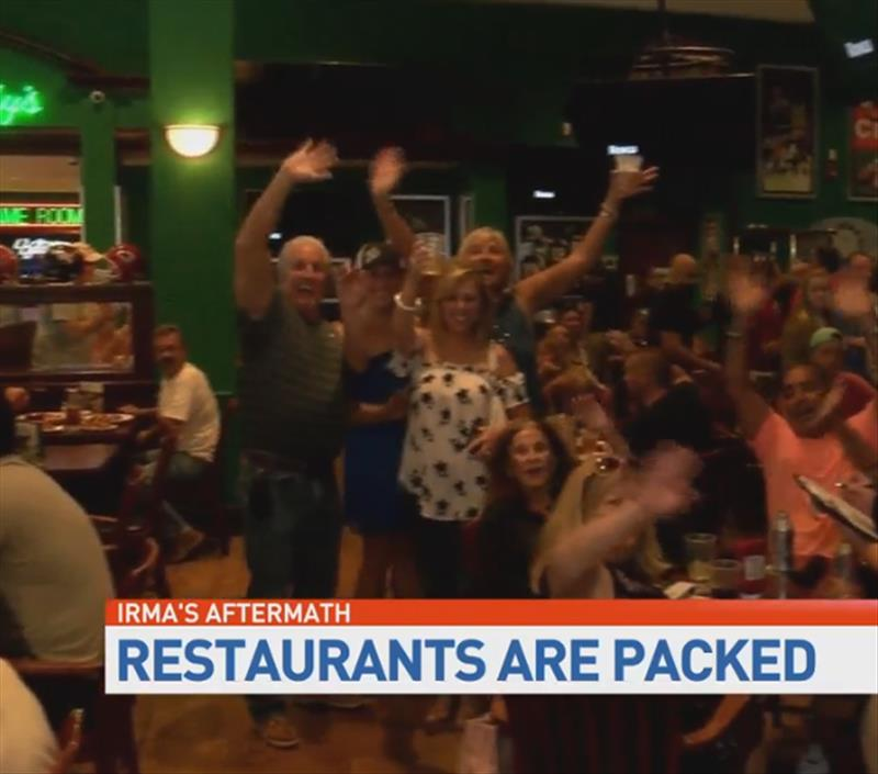 Sports bar offers relief, AC, for Irma-sick residents